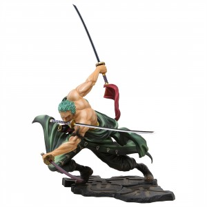 MegaHouse One Piece Portrait of Pirates SA-Maximum Roronoa Zoro Ver. San Zen Se Kai Figure (green)