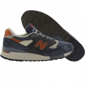 New Balance Men 998 Distinct Retro Ski M998DSNG Made in USA (navy / blue aster / carmel)
