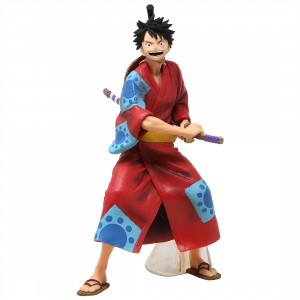 Banpresto One Piece Monkey D. Luffy Japanese Style Figure (red)