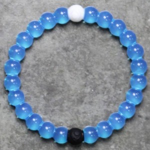 Lokai Bracelet - Water (blue / water / clear)