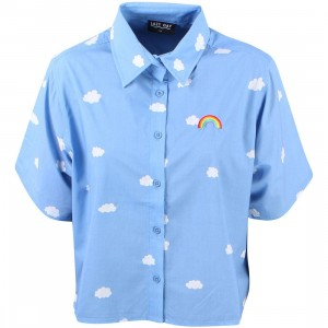 Lazy Oaf Women Crop Cloud Shirt (blue / sky)