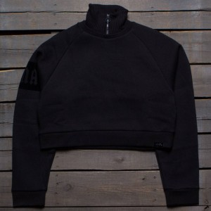 Puma x Fenty By Rihanna Women Cropped Neck Pullover Sweater (black)