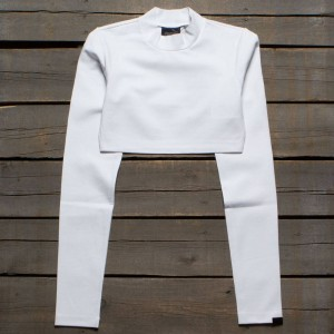 Puma x Fenty By Rihanna Women Cropped Mock Neck Top (white)