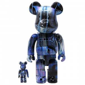 Medicom Rostarr 100% 400% Bearbrick Figure Set (blue)
