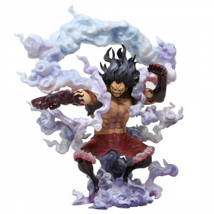 MegaHouse One Piece Portrait of Pirates SA-Maximum Monkey D. Luffy Gear 4th Snakeman Figure (red)
