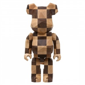 Medicom Karimoku Fragment Design Polygon Chess 400% Bearbrick Figure (brown)