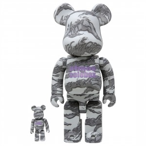 Medicom Atmos x Solebox 100% 400% Bearbrick Figure Set (gray)
