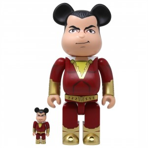 Medicom Shazam! 100% 400% Bearbrick Figure Set (red)