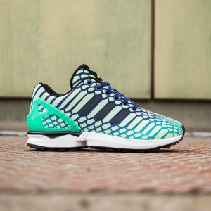 Adidas Big Kids ZX Flux (green / shock mint / lush ink / white)