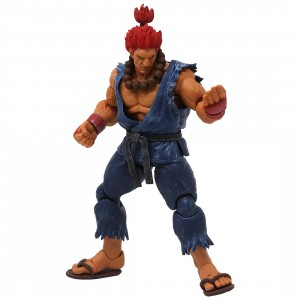 Storm Collectibles Street Fighter V Akuma Nostalgia Costume 1/12 Action Figure (blue)