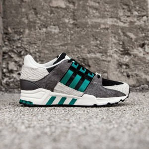 Adidas Women EQT Support 93 (black / core black / eqt green / off white)