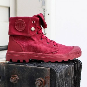 Palladium Boots Men Baggy II - Monochrome (burgundy / maroon)