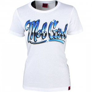 Married To The Mob Women Airbrush Tee (blue)