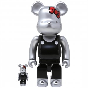 Medicom Hello Kitty Generation 00s 100% 400% Bearbrick Figure Set (black)