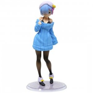 Taito Re:Zero Starting Life in Another World Rem Knit Dress Ver. Figure (blue)
