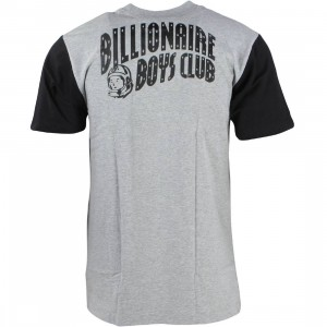 Billionaire Boys Club Men Color Blocked SS Tee (gray / heather)