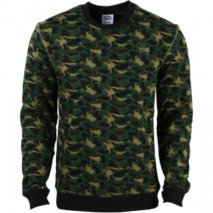 Billionaire Boys Club Men Camo Crewneck Sweater (camo)
