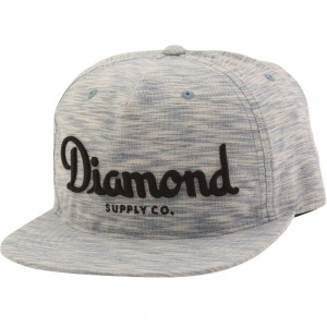 Diamond Supply Co Champagne Snapback Cap (blue)