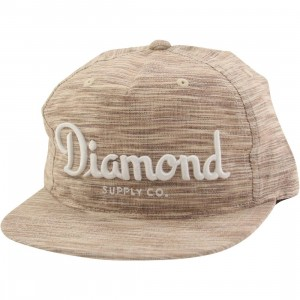 Diamond Supply Co Champagne Snapback Cap (brown)