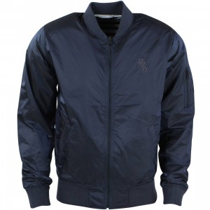Diamond Supply Co Men Serif Bomber Jacket (navy)