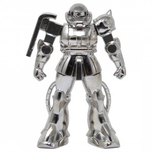 Bandai Absolute Chogokin Mobile Suit Gundam GM-03 Zaku II Mass Production Model Figure (silver)