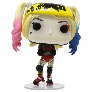 Funko POP Heroes Birds Of Prey Harley Quinn Roller Derby With Collectible Card - Entertainment Earth Exclusive (yellow)