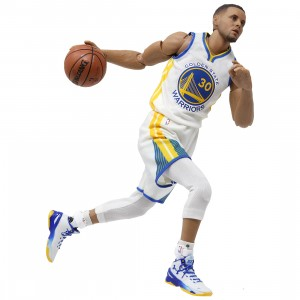 NBA x Enterbay Stephen Curry 1/9 Scale 9 Inch Figure (white)