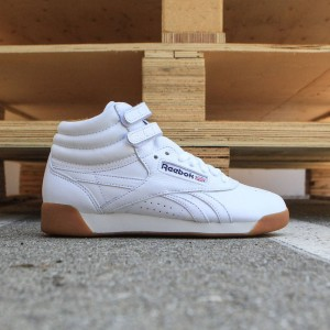 Reebok Women Freestyle Hi Fitness (white / athletic navy / gum)