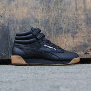 Reebok Women Freestyle Hi (black / white / gum)