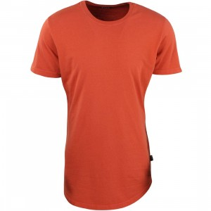 BAIT Men Premium Scallop Tee - Made in Los Angeles (orange)