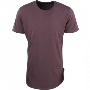 BAIT Men Premium Scallop Tee - Made In Los Angeles  (purple / plum kitten)