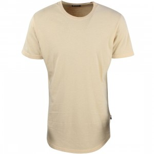 BAIT Men Premium Scallop Tee - Made In Los Angeles (beige / desert dust)