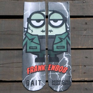 BAIT x Minion Monsters Men FrankenBob Socks (green) 1S
