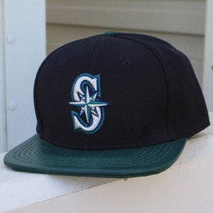 Pro Standard MLB Seattle Mariners Logo Cap (blue / green)