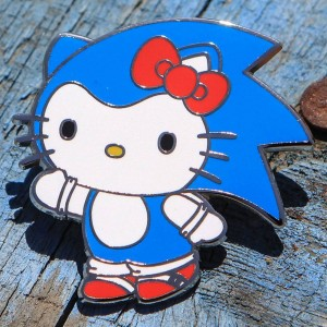BAIT x Sanrio x Sonic Blue Hello Kitty Pin (blue)
