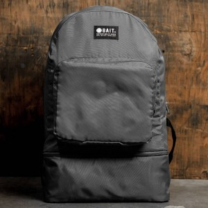 BAIT Lightweight Packable And Detachable Sneaker Nylon Backpack (gray / iron gray)