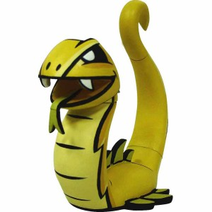 Chinese Zodiac Mini Figure By Joe Ledbetter - Snake (yellow)