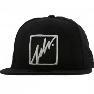 JSLV Squared Outline New Era Fitted Cap (black)