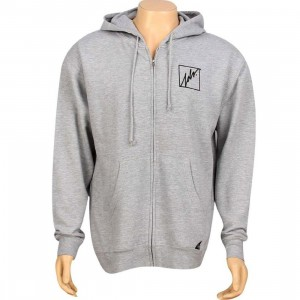 JSLV Squared Outline Zip Up Hoody (athletic heather)