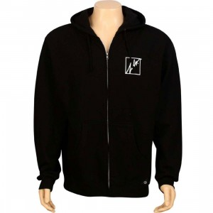 JSLV Squared Outline Zip Up Hoody (black)