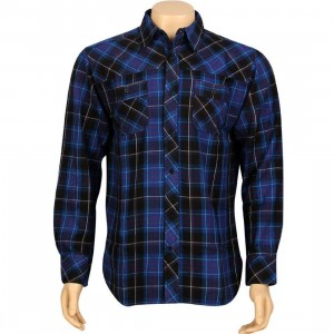 JSLV Goodtimes Flannel Long Sleeve Shirt (royal / red)