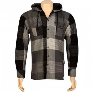 JSLV Hoodlum Woven Long Sleeve Shirt (grey / black)