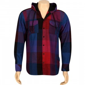 JSLV Hoodlum Woven Long Sleeve Shirt (royal / red)