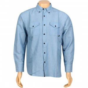 JSLV Late Night Woven Long Sleeve Shirt (royal blue)
