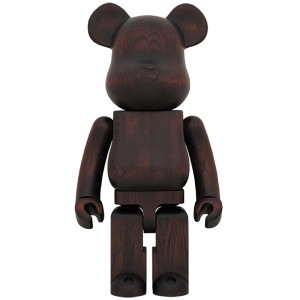 Medicom Karimoku Rosewood Paint 1000% Bearbrick Figure (brown)