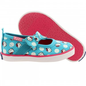 Keds x Hello Kitty Toddlers Champion K Mary Jane (blue / turquoise / confetti print)