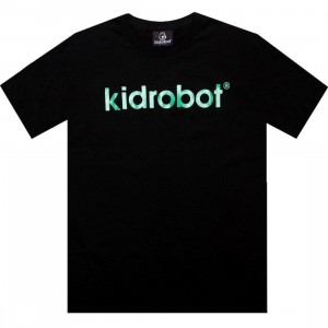 Kidrobot Solid Logo Tee (black / green)