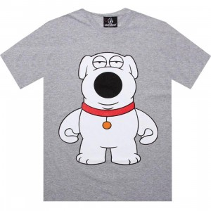 Kidrobot Family Guy Brians Martini Tee (heather grey)