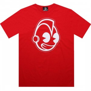 Kidrobot Robot Outline Tee (red)