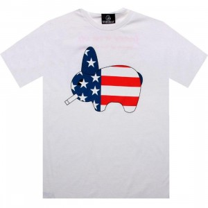 Kidrobot Smork Stars And Stripes Tee (white)
